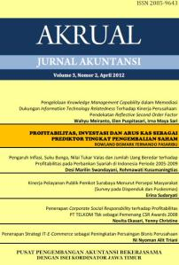 JAA Vol.3 No.2, Apr 2012 Profitabilitas,...