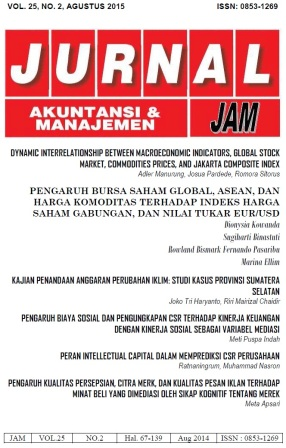 COVER JAM Vol.25, No.2 Ags 2014 PENGARUH BURSA SAHAM GLOBAL