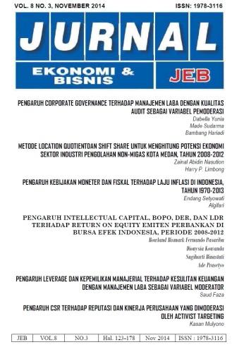 COVER JEB Vol 8 No 3 PENGARUH INTELLECTUAL CAPITAL